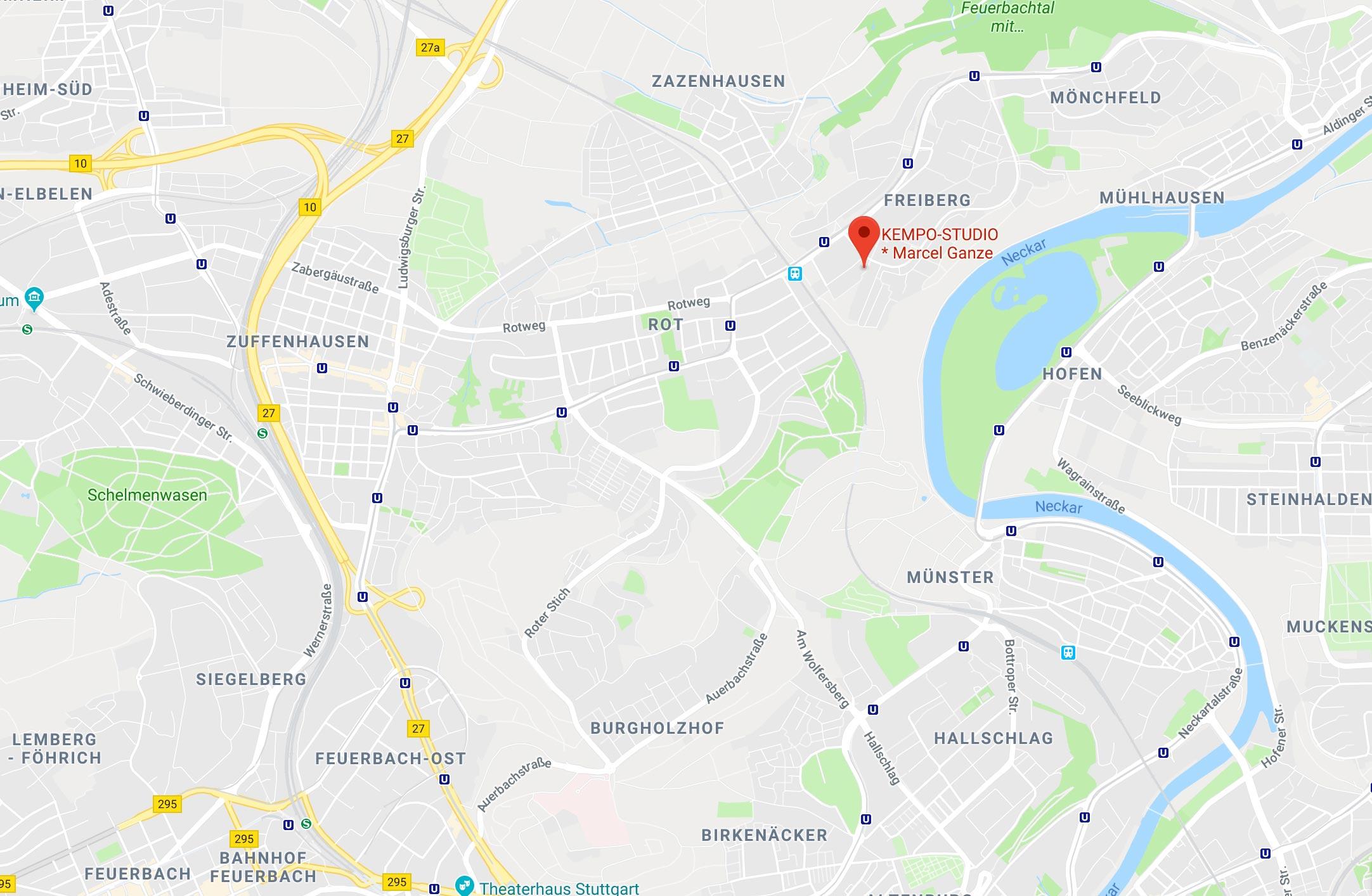 Karte KEMPO-STUDIO STUTTGART